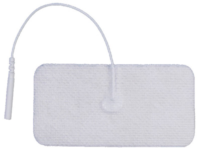 Pepin AdvanTrode Essential Electrode, White Spunlace, 1.75 x 3.75 in Rectangle - 4 Pads