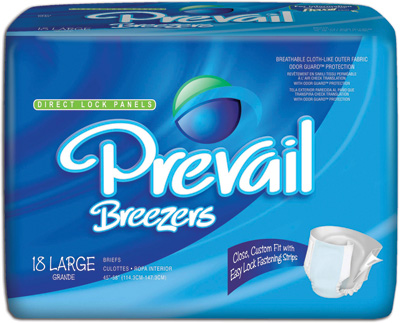 Prevail® Breezers Adult Briefs, Large 45-58 in - 72 cs (4x18ea)