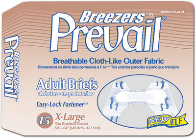 Prevail® Breezers Adult Briefs, X-Large 59-64 in - 60 cs (4x15ea)