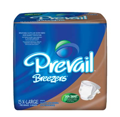 Prevail Breezers Adult Briefs, X-Large 59-64 - 60 cs (4x15ea)
