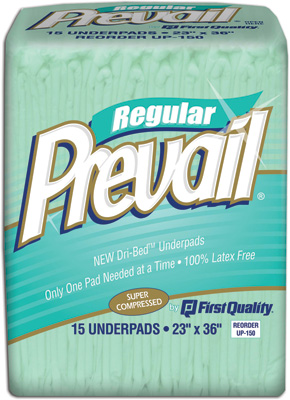 Prevail Fluff Underpads, 23x36 - 120 cs (8x15ea)