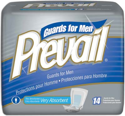 Prevail® For Men Male Guards, w/ Adhesive Strip - 126 cs (9x14ea)