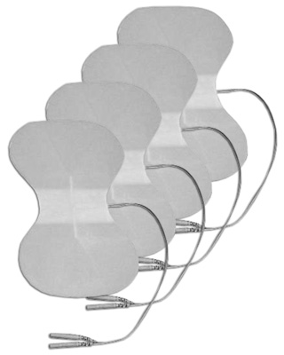 Pro-Patch TENS Unit 4 x 6 Butterfly Electrode Pads, White Foam - 4 Pads