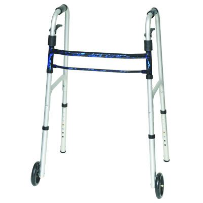 ProBasics Aluminum Adult Walker Trigger w/ wheels, Blue 350 lb Weight Capacity WKAAWSLB