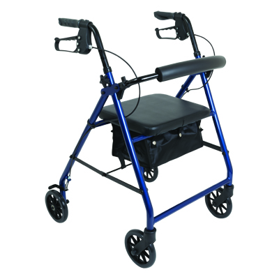 ProBasics Aluminum Rollator, 6 in Wheels, Blue, 300 lb Weight Capacity RLA6BL