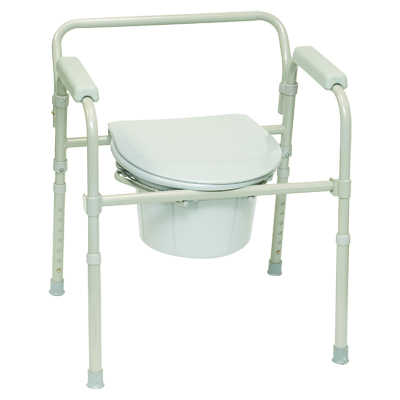 ProBasics Folding Three-in-One Commode, 350lb Weight Capacity BSFC