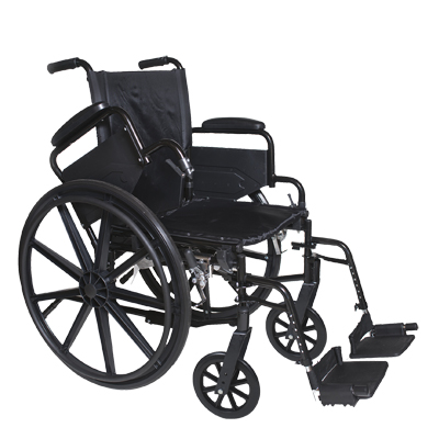 "ProBasics High Performance Lightweight K0004 Wheelchair - 16"" x 16"" Seat with Leg Rests"