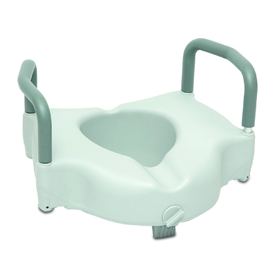 ProBasics Raised Toilet Seat with Lock and Arms, 350lb Weight Capacity BSRTSLA
