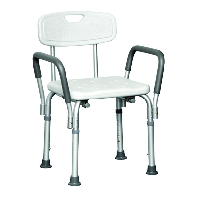 ProBasics Shower Chair with Back and Arms, 300lb Weight Capacity BSCWBA