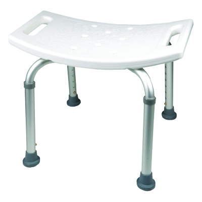 ProBasics Shower Chair without Back, 250lb Weight Capacity BSC