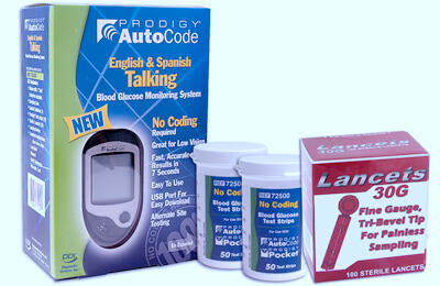 Prodigy AutoCode Talking Blood Glucose Meter Starter Pack