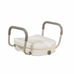 Drive Medical Raised Toilet Seat with Removable Padded Arms 12008kdr
