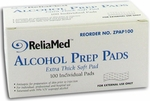 ReliaMed Alcohol Prep Pads - 100 Swabs