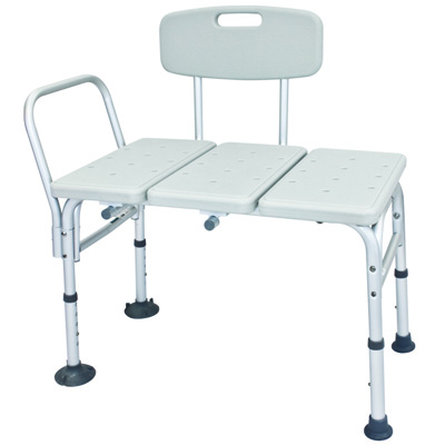 Roscoe Medical Adjustable Transfer Bench Color: Gray