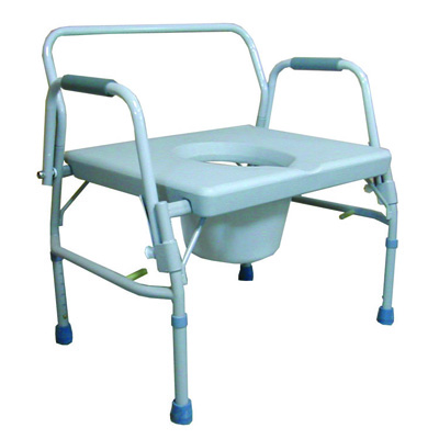 Roscoe Medical Bariatric Drop-Arm Commode Color: Gray 26 in