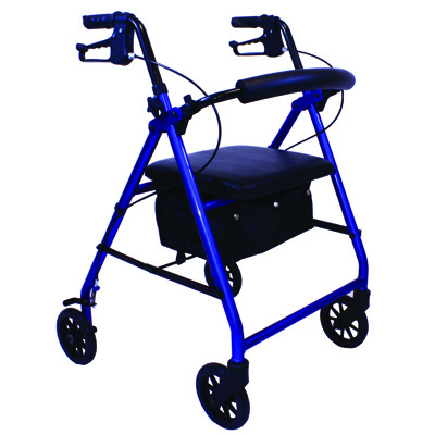 Roscoe Medical E-Series Rollator with Padded Seat Color: Blue