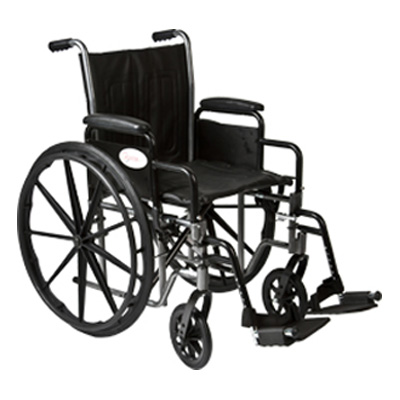 Roscoe Medical K2-Lite Wheelchair Color: Powder-coated silver vein k2st1616dhrsa