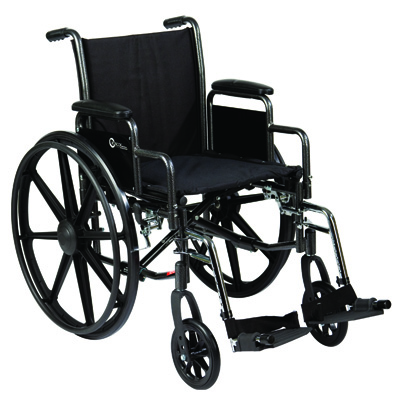Roscoe Medical K3-Lite Wheelchair Color: Powder-coated silver vein k31816dhrsa