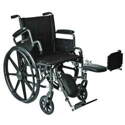 Roscoe Medical K4-Lite Wheelchair Color: Powder-coated silver vein k41816dhfbel