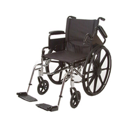 Roscoe Medical K4-Lite Wheelchair Color: Powder-coated silver vein k42016dhfbsa