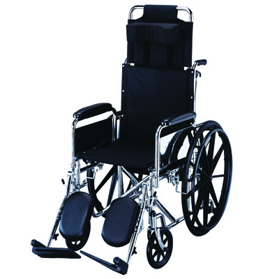 Roscoe Medical R-Series Reclining Wheelchair Color: Chrome finish kr20e