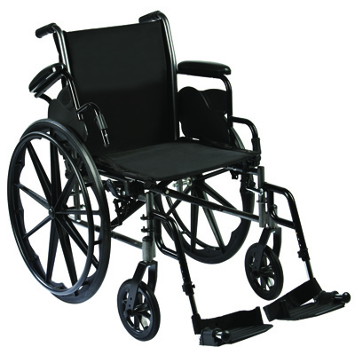 Roscoe Medical Reliance III Wheelchair Color: Powder-coated silver vein w32016e