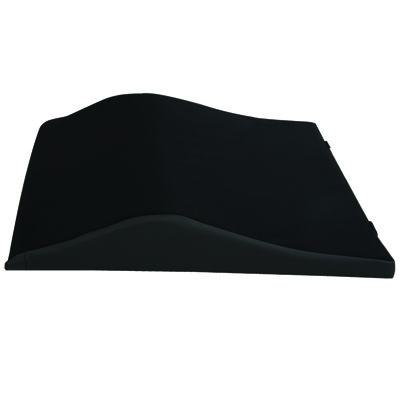 Roscoe Medical Wheelchair Back Cushions Color: Black 22x19 in