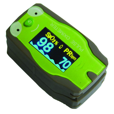 Roscoe Medical Six-Display Mode Pediatric Pulse Oximeter Color: Gray