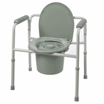 Roscoe Medical Three-In-One Commode Color: Gray BTH-31C