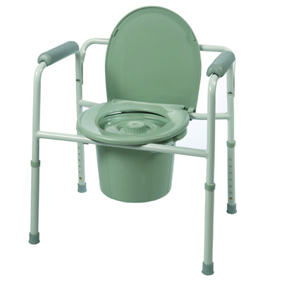 Roscoe Medical Three-In-One Commode Color: Gray BTH-HV31