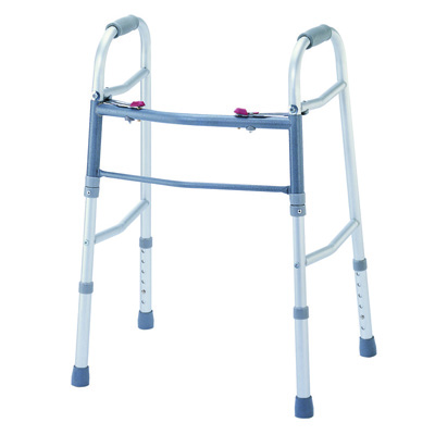 Roscoe Medical Two Button Walkers Color: Gray ROS-WK40350-4