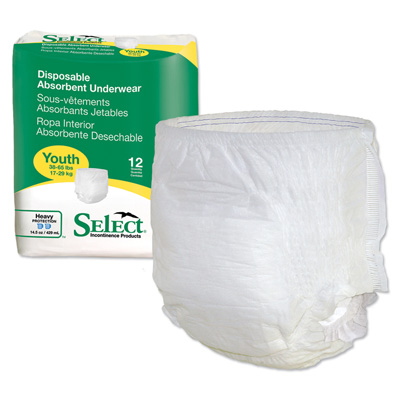 Select Disposable Absorbent Underwear - Youth - 2602