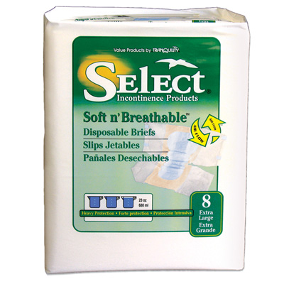 Select Soft n Breathable Disposable Briefs - Extra Large - 2629