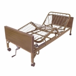 Drive Medical Semi Electric Bed with Full Rails and Therapeutic Support Mattress 15004bv-pkg-t