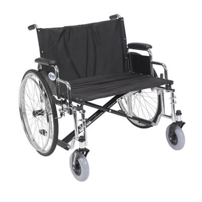 Drive Medical Sentra EC Heavy Duty Extra Wide Wheelchair with Detachable Desk Arms std28ecdda