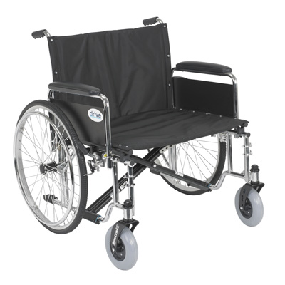 Drive Medical Sentra EC Heavy Duty Extra Wide Wheelchair with Detachable Full Arms std26ecdfa