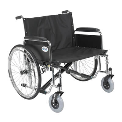 Drive Medical Sentra EC Heavy Duty Extra Wide Wheelchair with Detachable Full Arms std28ecdfa