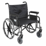 Drive Medical Sentra Heavy Duty Wheelchair with Detachable Full Arms std26dfa