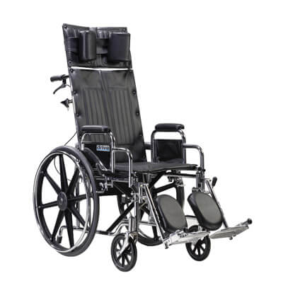 Drive Medical Sentra Reclining Wheelchair with Detachable Desk Arms std22rbdda
