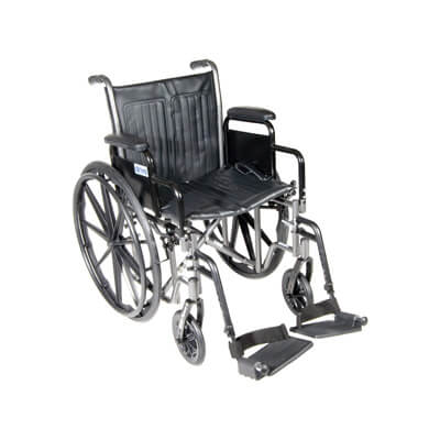 Drive Medical Silver Sport 2 Wheelchair with Detachable Desk Arms and Swing Away Footrest ssp216dda-sf