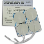 DuraTENS (Formerly SilverSoft HC Premium) TENS Silver Electrodes 2 in Round, White Foam Backed - 4 Pads