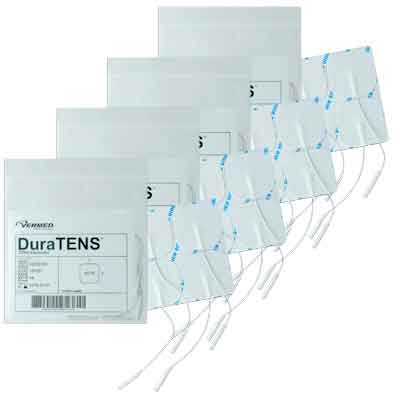 DuraTENS (Formerly SilverSoft HC Premium) TENS Silver Electrodes 2 x 2 in Square, White Foam Backed - 16 Pads