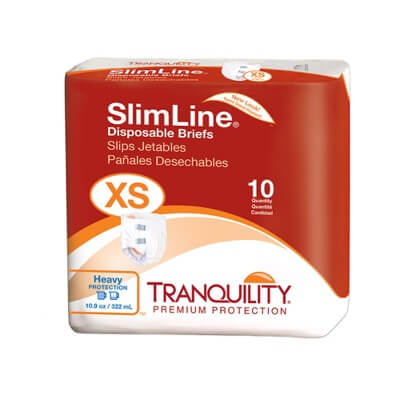 SlimLine Orignal Disposable Brief  - X-Small - 2166