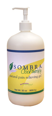 Sombra Cool Therapy Natural Pain Relieving Gel Pump Bottle - 32 oz