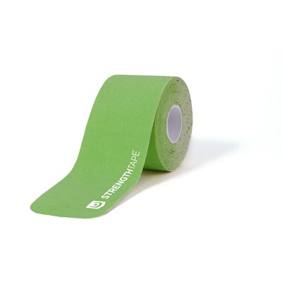 StrengthTape 5m (16.7) Roll of 20 Pre-Cut 10 in Strips - Green