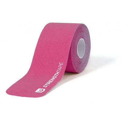 StrengthTape 5m (16.7) Roll of 20 Pre-Cut 10 in Strips - Hot Pink