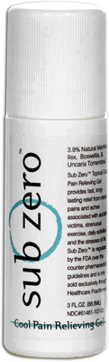 Sub-Zero Cool Pain Relieving Gel Roll-On - 3 oz