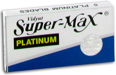 Super-Max Stainless Steel Double Edge Razor Blades - 5 ea