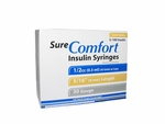Sure Comfort 30 Gauge 0.5 cc 5/16 in Insulin Syringes - 100 ea 22-6005