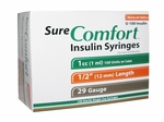 Sure Comfort 29 Gauge 1 cc 1/2 in Insulin Syringes - 100 ea 22-9010